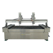 Waterjet Machine with Double Cutting Head