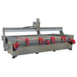 Waterjet machine with Hydraulic Loading Arm