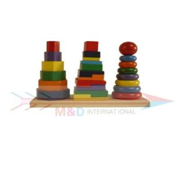 wooden stacker set
