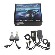 Car Truck H4 3600LM 70W LED HeadLight H/L Beam Lamp 6000K 7500K Integrated New Release