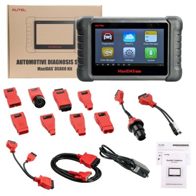 Latest AUTEL MaxiDAS DS808K KIT Tablet Diagnostic Tool Full Set Support Injector & Key Coding Update Online