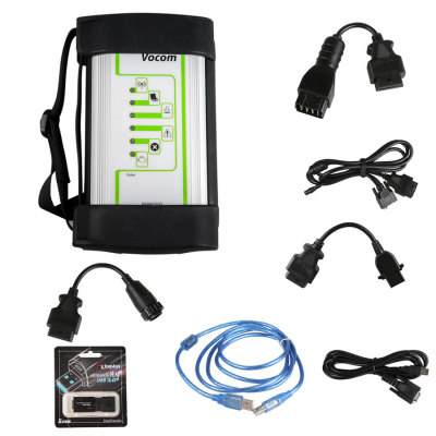 Volvo 88890300 Vocom Interface for Volvo/Renault/UD/Mack Multi-languages Truck Diagnose Square Interface