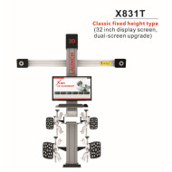 LAUNCH Easydiag 3.0 +EOBD+Demo Support Bluetooth Work with AnOriginal LAUNCH X831T 3D 4-Post Car Alignment Lifts Platform Classic Fixed Height Type 32inch Display Screen Dual-Screen Upgradedroid /IOS Update Version of EasyDiag 2.0