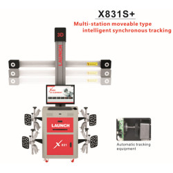 Original LAUNCH X831S+ X831Plus 3D 4-Post Car Alignment Lifts Platform Supports multi-language UNICODE