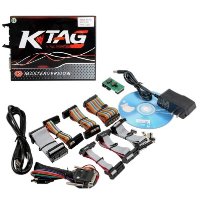 V2.23 KTAG EU Online Version Firmware V7.020 K-TAG Master with Red PCB No Tokens Limitation