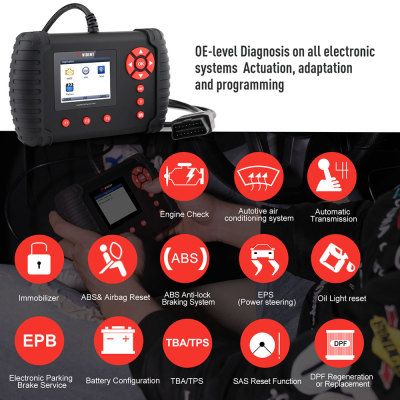 Original VIDENT iLink400 Full System Scan Tool Single Make Support ABS/SRS/EPB//DPF Regeneration/Oil Reset Update