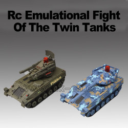 Radio controlled emulational twin flight rc tank