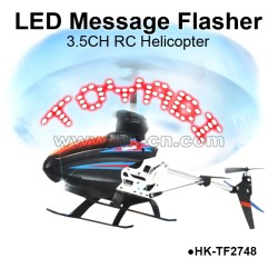 3.5CH LED message rc helicopter