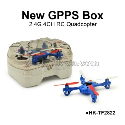 Mini-sized 2.4GHz 4CH New GPPS Box RC Quadcopter Intruder UFO
