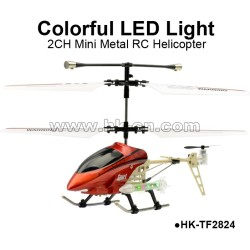 2CH LED Light Metal rc helicopter