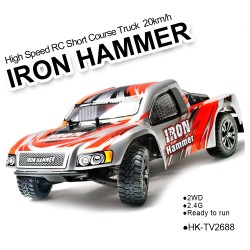 TOYABI 2.4G 1/12 2WD Wheel iron hammer high speed RC similar short course truck hobby models cars
