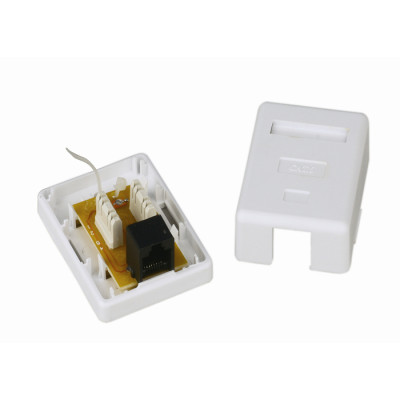 Cat. 6 RJ45 UTP Surface mount Box single port