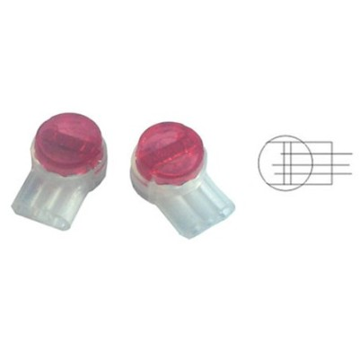 UR2 Splicing Connector, -Gel Filled, 19-26 AWG, 3 Wire Splice, Polypropylene material- Red