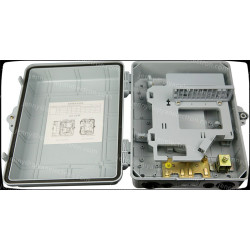 Outdoor 24 fibers plastic housing Fiber optic distribution box