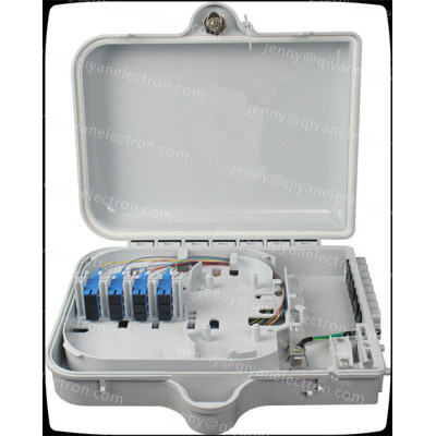 1*16 Fiber Optic Splitter Box SC Duplex plastic Fiber Termination Box Outdoor Pole Mount.