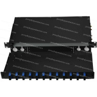 1U Drawer-type Rack Mount Fiber Patch Panel Preloaded FC, SC, ST and LC Connectors