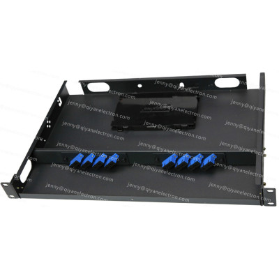 Metal Fixed Rack Mount Patch Panel with Removable front-top cover