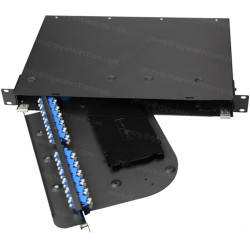1/2/3/4U Rotatable Rack Mount Patch Panel Max 192 Cores Metal material rotate style