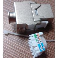 Toolless Cat5e/cat6 keystone jack shielded (Conector femea blindado CAT.5e/cat6)
