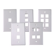 Single-gang wallplate/faceplate