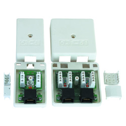 Cat.5e RJ45 surface mount box                JC-2109