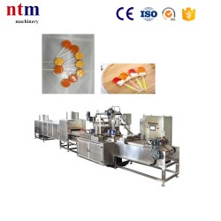 Automatic vacuum continuous microfilm cooker and depositing line for flat lollipops (with automatic sticks putting device)