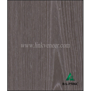BA-P506C Engineered crown cut black apricot veneer 0.3mm face veneer