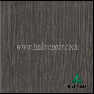 BAP-L03S Recon veneer face of black color engineered wood veneer