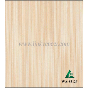 WA-S512#,Engineered wood veneer with top quality white ash wood veneer for furniture decoration/plywood face veneer