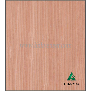 CH-S216#, 0.3mm red cherry engineered face veneer for making doors