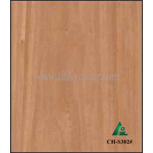 CH-S302#, igh quality 0.5mm 2*8 Crown Cut cherry recon Veneer