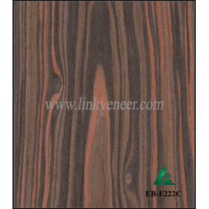 EB-F222C, Ebony Engineering Wood Veneer for MDF