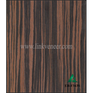 EB-F343S,  Ebony Engineering Wood Veneer for MDF