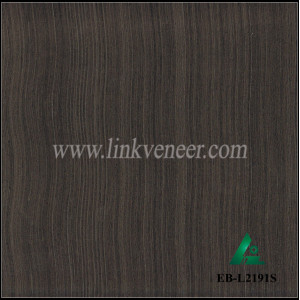 EB-L2191S, ebony face veneer for furniture and doors