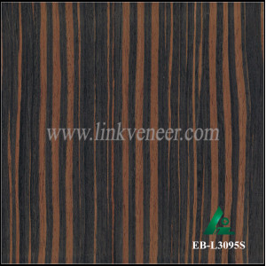 EB-L3095S, artificial veneer ebony face veneer recon wood veneer for decorative