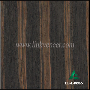 EB-L4896N, artificial ebony wood veneer