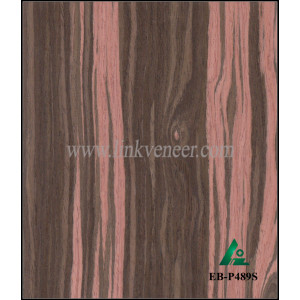 EB-P489S, fancy ebony engineered wood veneer