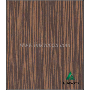 EB-P637S, ebony engineered(recomposed) wood veneer