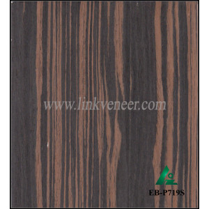 EB-P719S, 0.3mm high quality ebony veneer with grade A