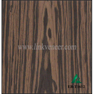 EB-T1612, Chinese Beautiful Design Black Ebony Engineered wood veneer for furniture decoration