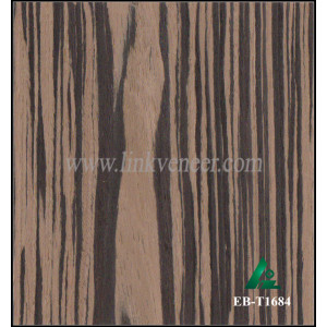EB-T1684, Ebony engineered wood, ebony recomposed veneer wood for furniture