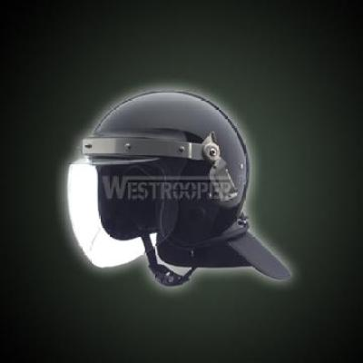 POLICE HELMET HEAVY DUTY(BLACK)
