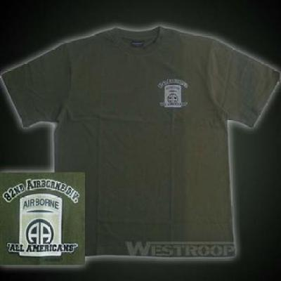 82ND AIRBORNE SHIRTS IN OLIVE