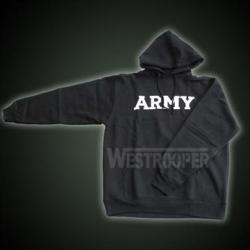 ARMY HOODED SWEATSHIRT BLACK