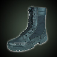 Black tactical boots
