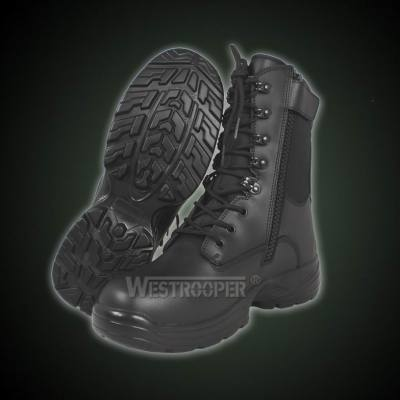TACTICAL BLACK LEATHER BOOTS 70-1713