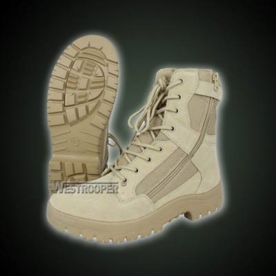 ARMY COW SUEDE LEATHER COMBAT BOOTS