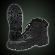 BLACK LEATHER TACTICAL BOOTS