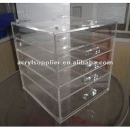 acrylic makeup organizer with drawers