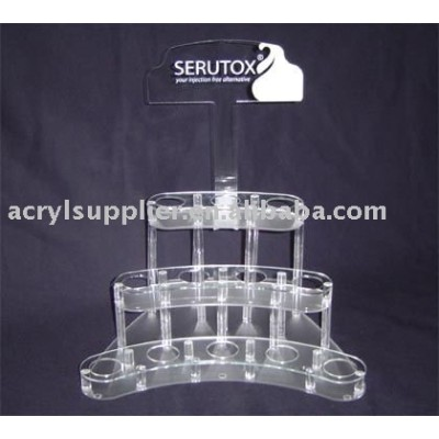 Clear acrylic makeup display holder